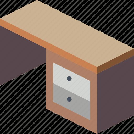 desk, furniture, household, iso, kitchen icon