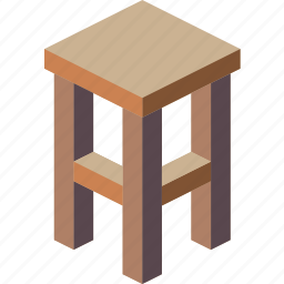 furniture, household, iso, lounge, stool icon