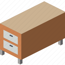 bedroom, drawers, furniture, household, iso icon
