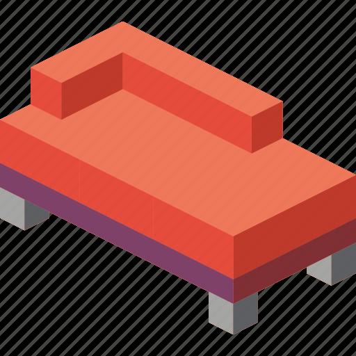 corner, furniture, household, iso, lounge, sofa icon