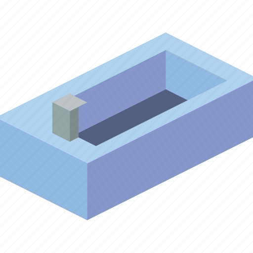 bathroom, bathtub, furniture, household, iso icon