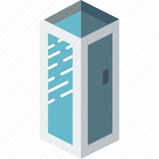 bathroom, furniture, household, iso, shower icon