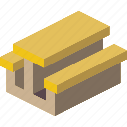 furniture, iso, table icon