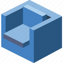 armchair, furniture, household, iso, lounge icon