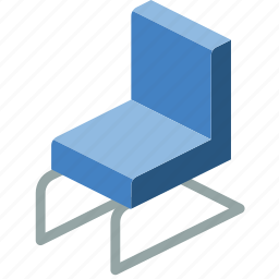 chair, furniture, household, iso, office icon