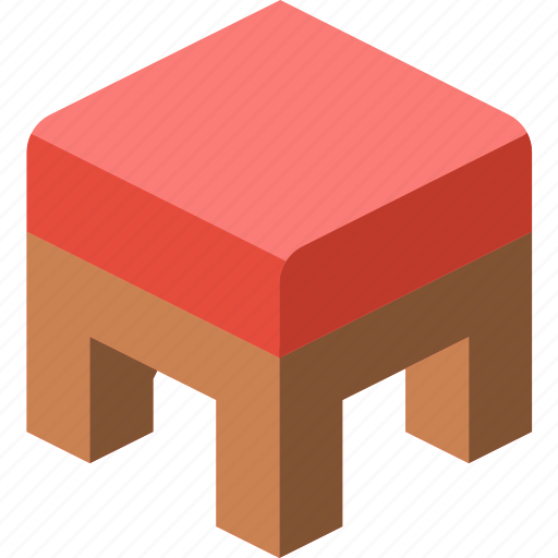 Furniture, household, iso, kitchen, pouffe icon - Download on Iconfinder