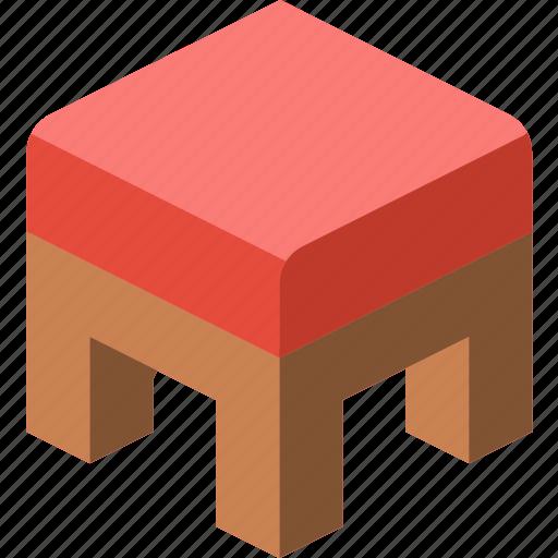 furniture, household, iso, kitchen, pouffe icon