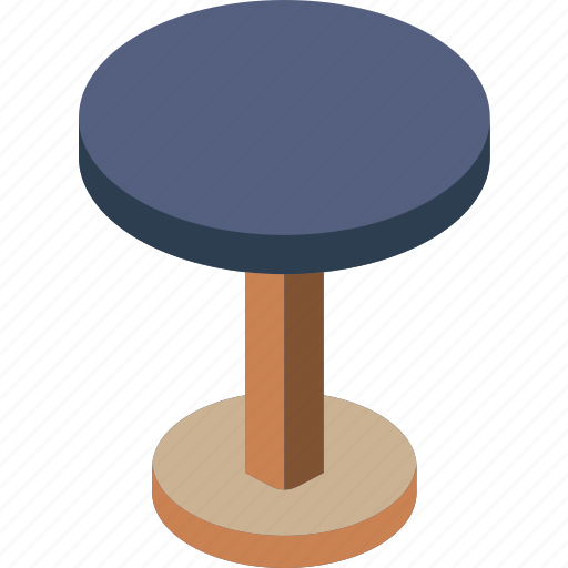 furniture, household, iso, kitchen, stool icon