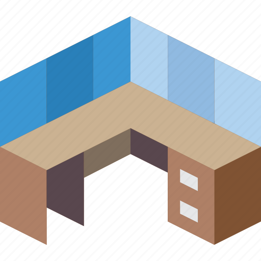 desk, furniture, household, iso, office icon