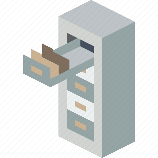 cabinet, filing, furniture, household, iso, office icon