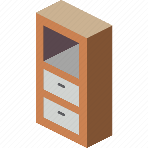 drawers, furniture, household, iso icon