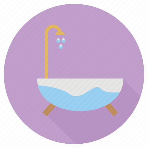 bath, furniture, interior, tub icon