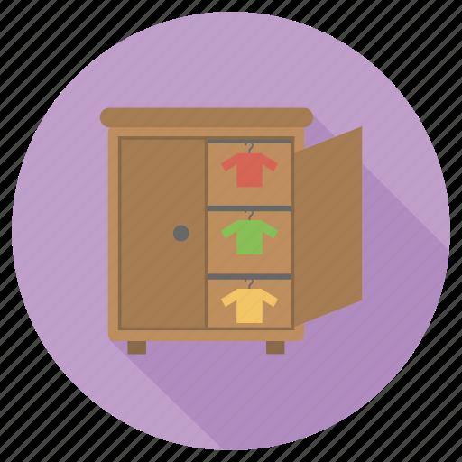 cupbaord, dress, furniture, interior icon