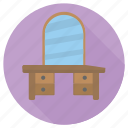 dressing, furniture, interior, table icon