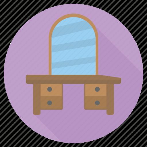 dressing, furniture, interior, table icon