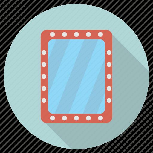 furniture, interior, mirror icon