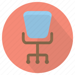 chair, furniture, interior, office icon