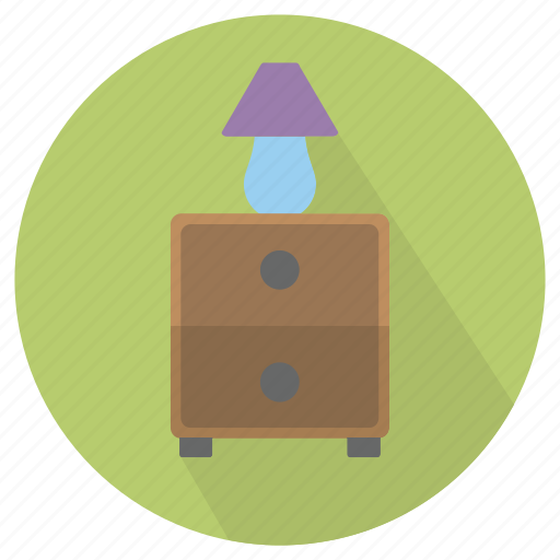 furniture, interior, lamp, side, table icon