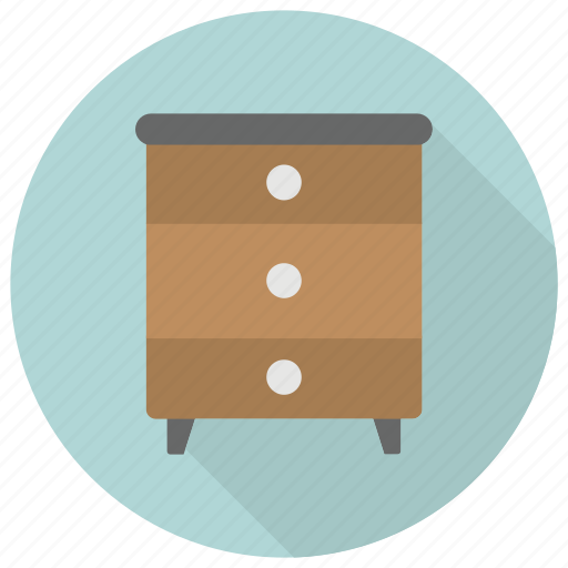 drawer, furniture, interior, side, table icon