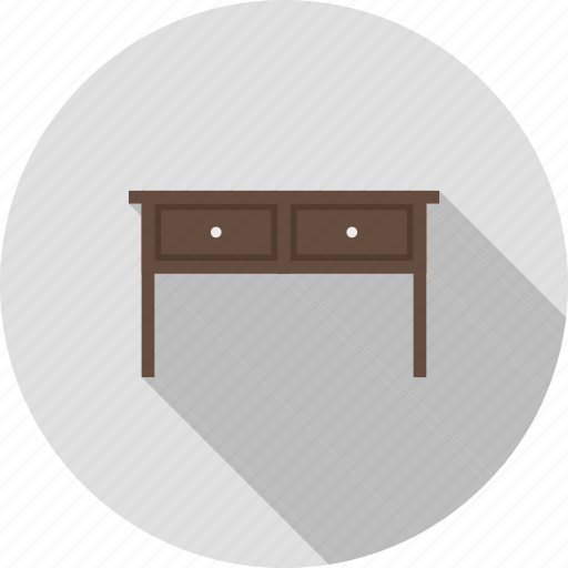 drawer, drawers, home, library, office, table, workstations icon