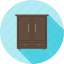 book, cabinet, cupboard, shelf, shelves, storage, wardrobe icon