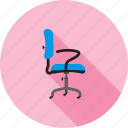 chair, furniture, leather, office, revolving, seat, wheels