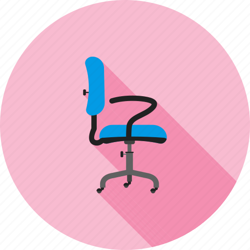 chair, furniture, leather, office, revolving, seat, wheels icon