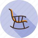 rocker, relax, armchair, rest, chair, rocking, furniture