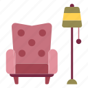 armchair, chair, comfortable, furniture, home, interior, seat icon