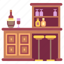bar, counter, furniture, home, house, interior, kitchen icon