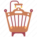 baby, bed, cradle, crib, furniture, infant, interior icon
