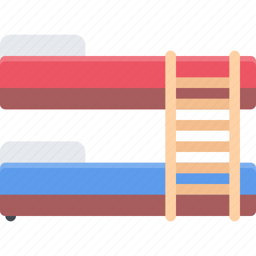 bed, bunk, design, furniture, interior, layout icon