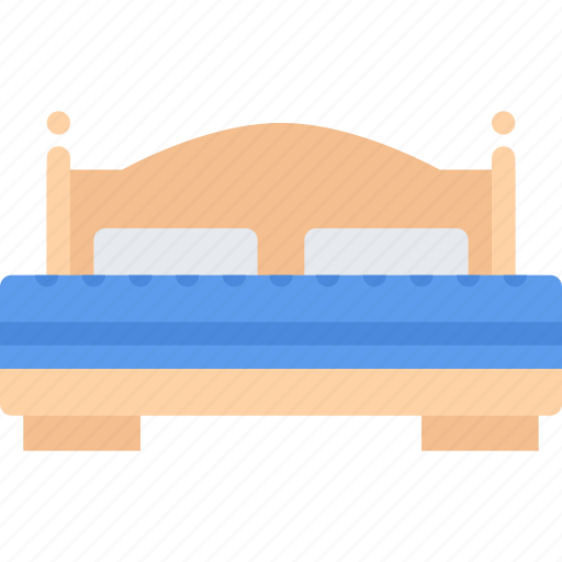 bed, design, double, furniture, interior, layout icon