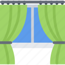 design, drapes, furniture, interior, layout icon