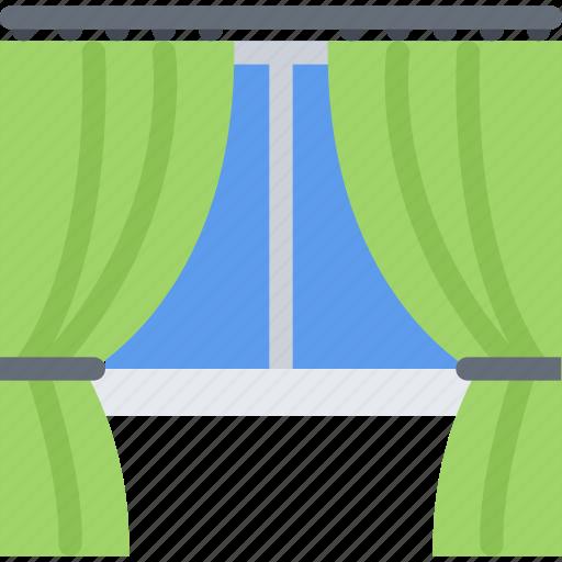 design, drapes, furniture, interior, layout icon