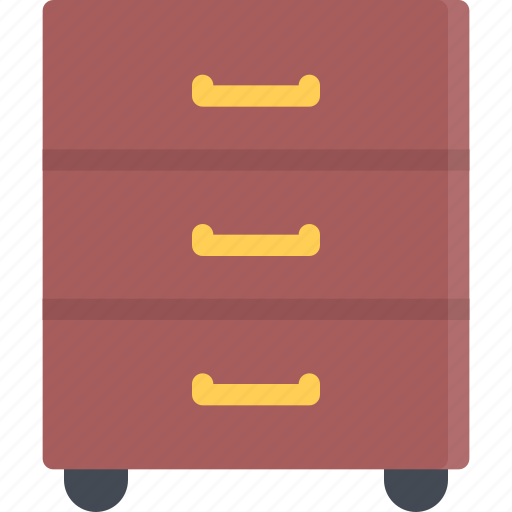 design, furniture, interior, layout, nightstand icon