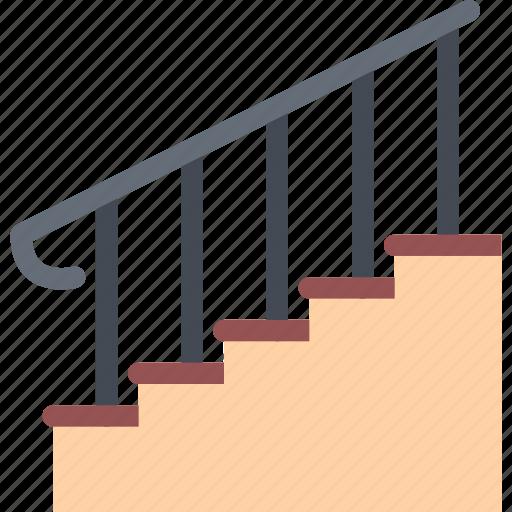 design, furniture, interior, layout, stairs icon