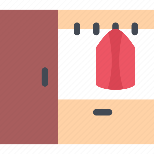 design, furniture, interior, layout, wardrobe icon