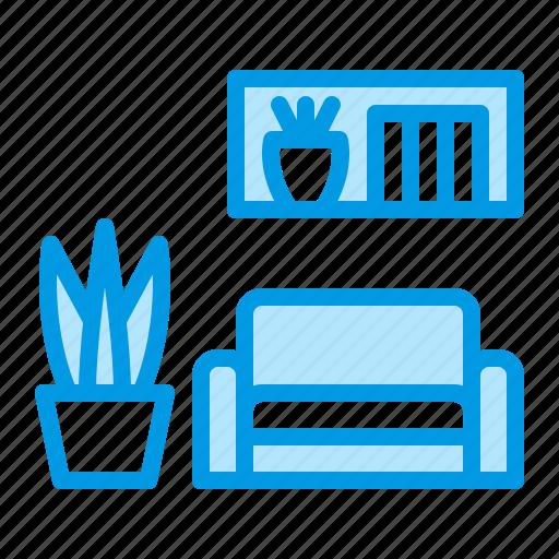 furniture, interior, living, room, sofa icon