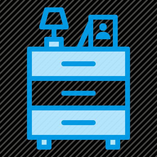 drawer, furniture, interior icon