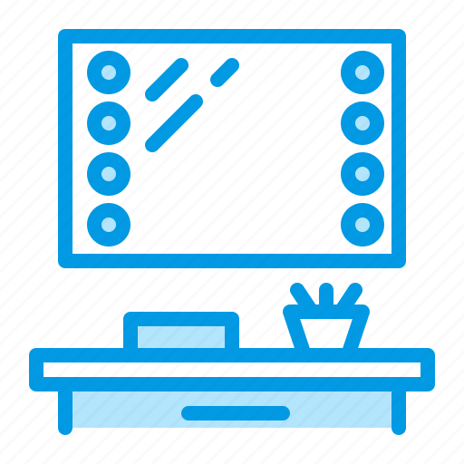 furniture, interior, make, mirror, up icon