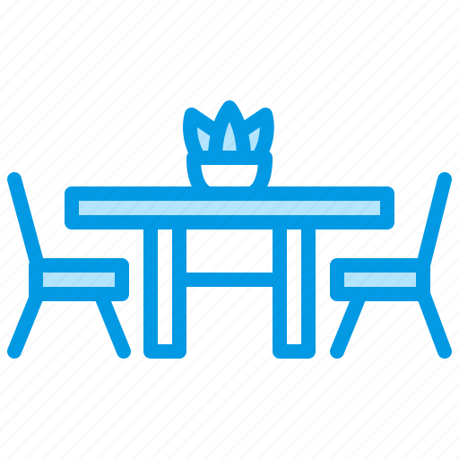 dining, furniture, interior, room, table icon