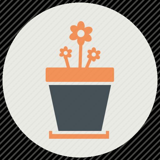 flower, nature, plant, pot icon