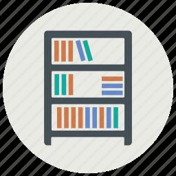 book, books, furniture, interior, shelf icon