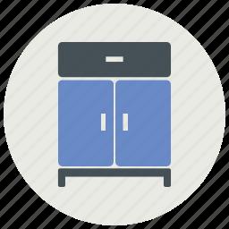 cabinet, drawer, furniture, interior icon