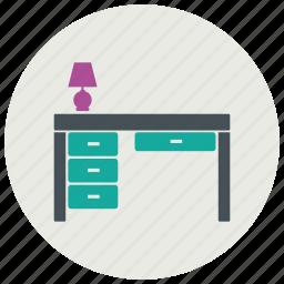 cabinet, desk, drawer, furniture, interior icon