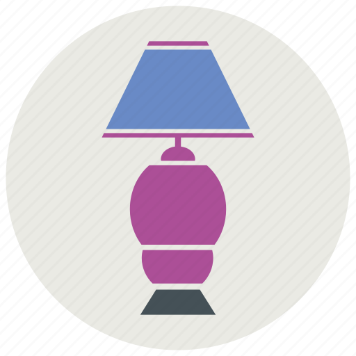 electric, furniture, interior, lamp, light, table icon