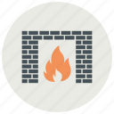 fire, heating, home icon