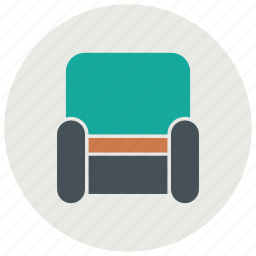 furniture, interior, sofa icon