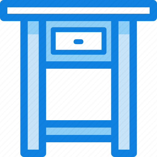 desk, drawer, furniture, interior, lamp, table icon